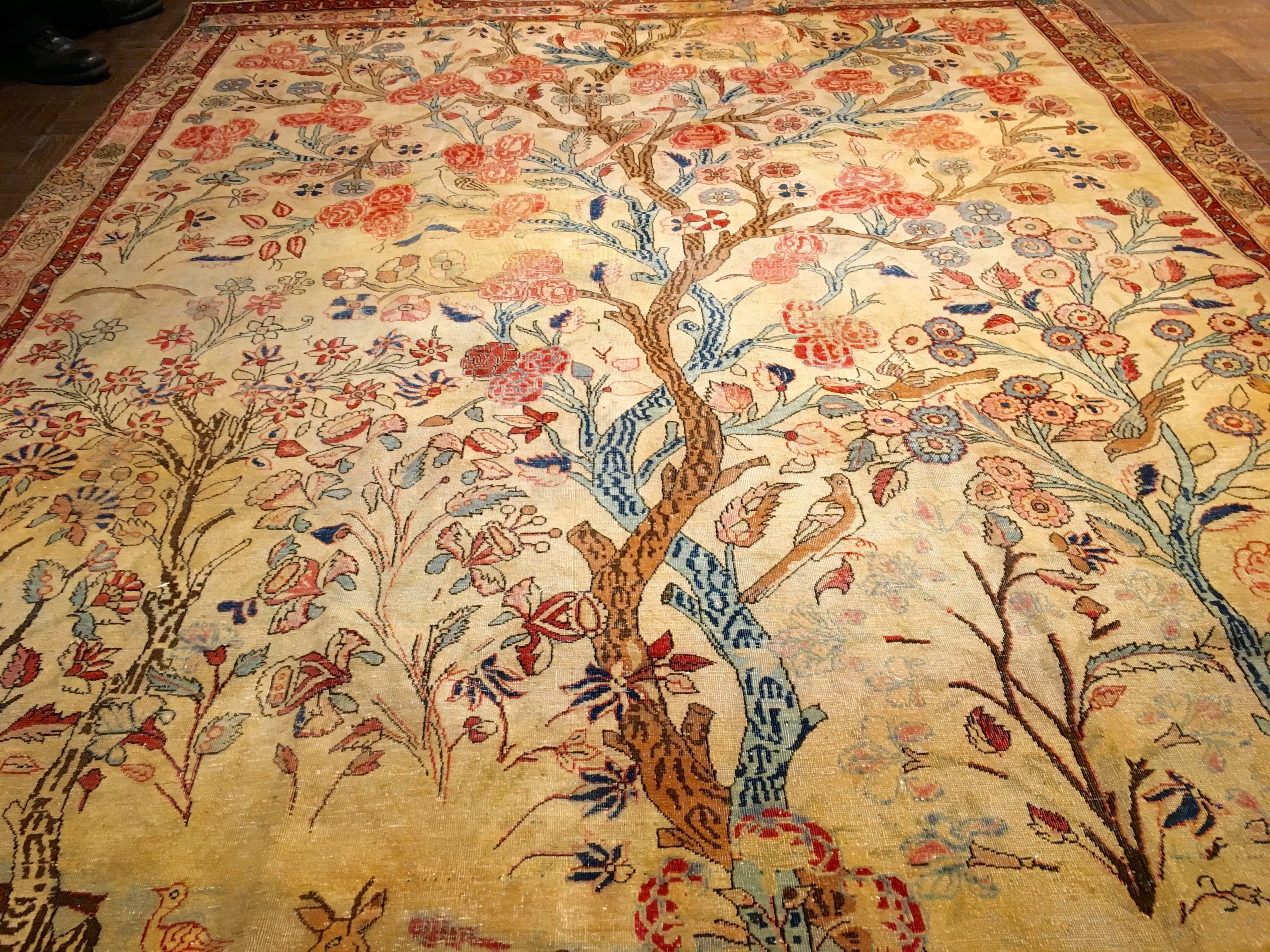 Kashan Antique Tree Of Life Carpet